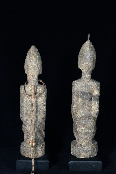 Dogon Couple Encrusted
